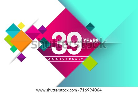 Th years anniversary logo vector design stock vector