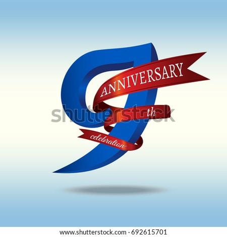 9th Years Anniversary Symbol Vector Stock Vector 692615701