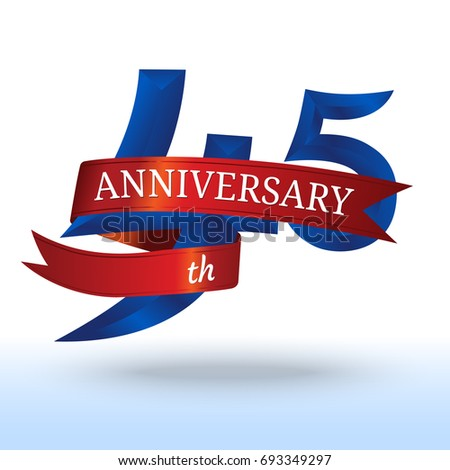 45th Years Anniversary Symbol Vector Stock Vector 693349297