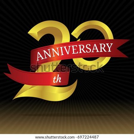 20th Years Anniversary Vector Symbol Stock Vector 697224487