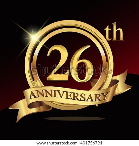 28th anniversary logo shiny silver ring stock vector 421256593