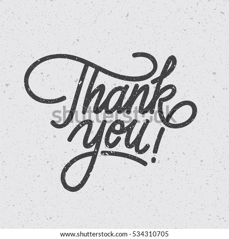 """Thank You"" Digital lettering. Modern line typography. Eps10 vector."