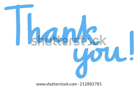 """Thank you"" lettering. - stock vector"