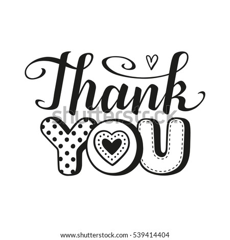 thank you card template black and white