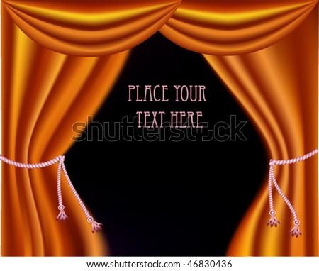 The elegant theater curtain. Vector - stock vector