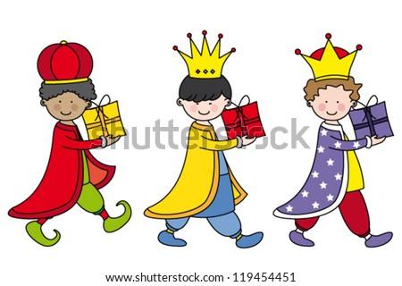 the Three Kings - stock vector