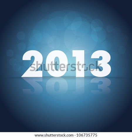 2013 theme on dark background - stock vector