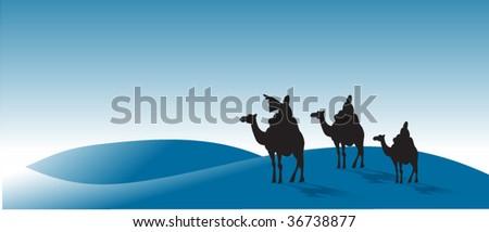 Three wise-men - stock vector