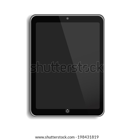 Touch Screen Tablet - stock vector