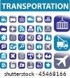 36 transportation buttons. vector - stock vector