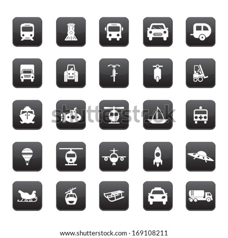 Transportation icon set  - stock vector