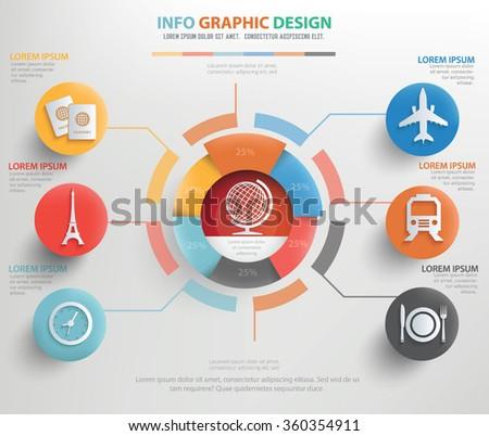 Travel concept design,info graphic,vector - stock vector