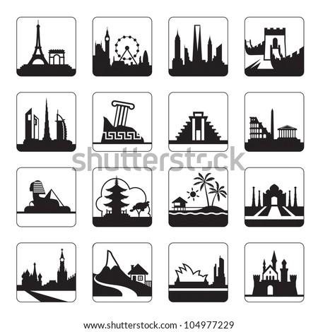 Travel destinations - vector illustration - stock vector