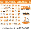 50 travel signs. vector - stock vector