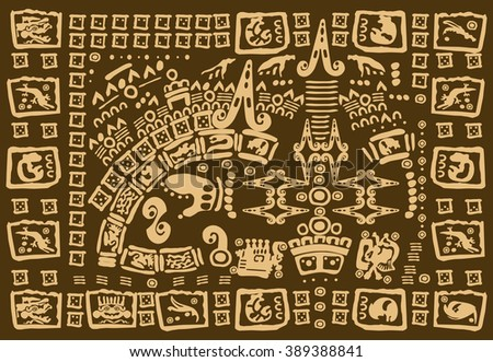 Tribal elements and symbols - stock vector