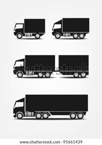 Truck symbols - stock vector