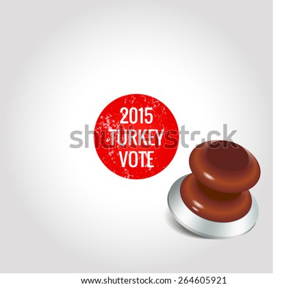 2015 Turkish General Election Vote - stock vector