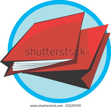 two red cover files - stock vector