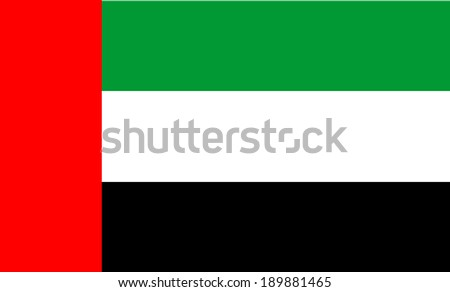 United Arab Emirates flag isolated vector in official colors and proportion. - stock vector