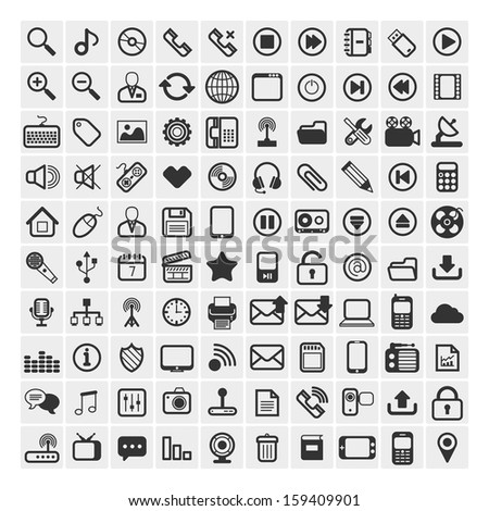 25 Universal Outline Icons For Web and Mobile