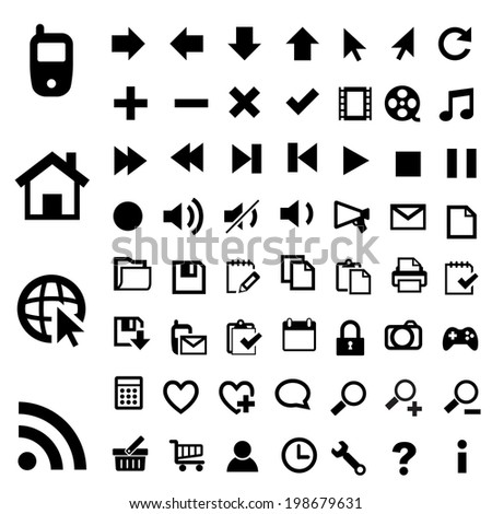 60 Universal Outline Icons For Web and Mobile.