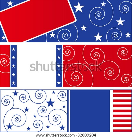 USA Flag design elements - stock vector