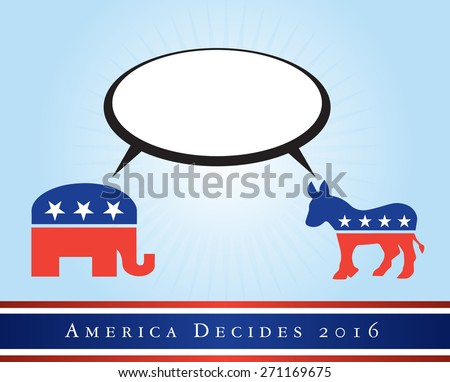 2016 USA presidential election poster or sticker, with area for text. Vector file available.  - stock vector