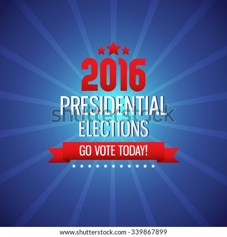 2016 USA presidential election poster. Vector Illustration, eps10, contains transparencies. - stock vector