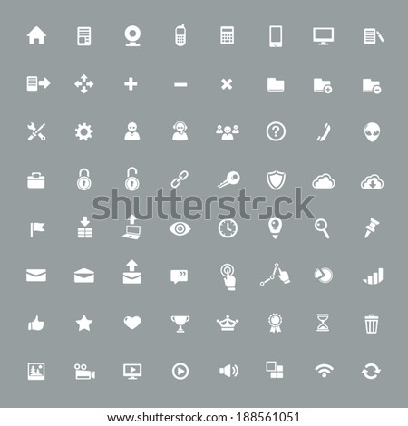64  Useful App Icons - stock vector