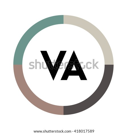 Kv Letters Four Colors Abstract Background Stock Vector 418687663 ...
