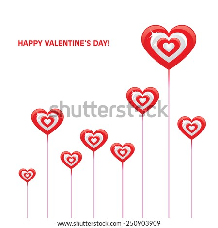valentines day card vector - stock vector