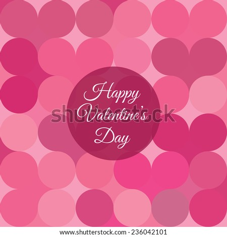 Valentines day card with hearts pattern background - stock vector