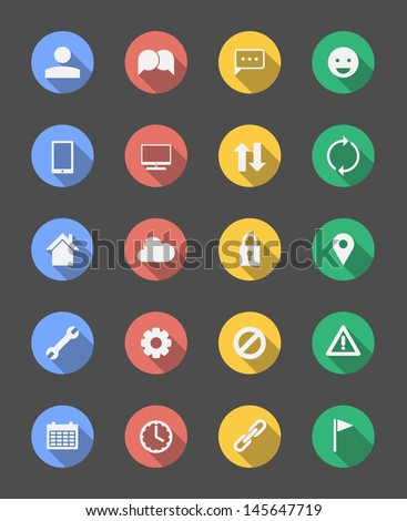 20 Various Stylish Minimal Icons - stock vector