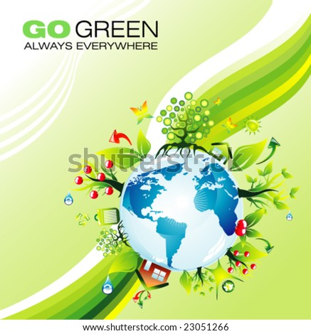 VECTOR  Abstract Environmental Earth concept background