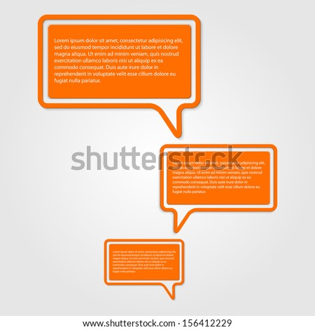 Vector abstract stickers. Banners - stock vector
