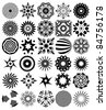 30 vector abstract symbols - stock vector