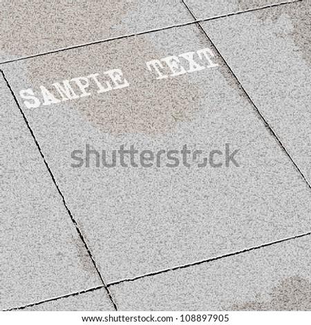 Vector background of tiles ground - stock vector