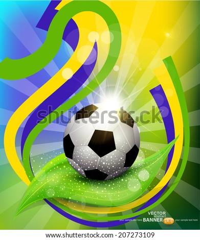 vector background on 2014 soccer brasil - stock vector