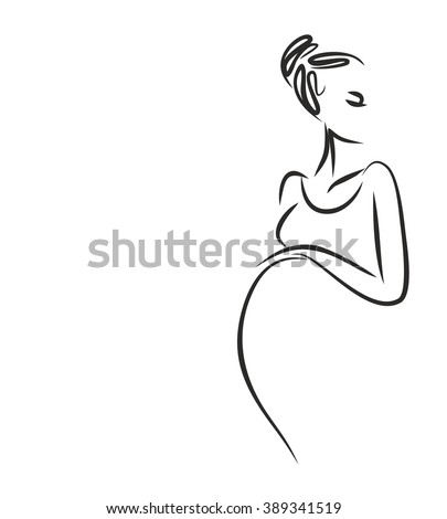 VECTOR background with a pregnant woman