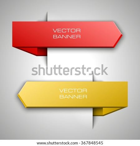 2 Vector banner with a glass surface for your business titles. Abstract background. Eps 10 vector file. - stock vector