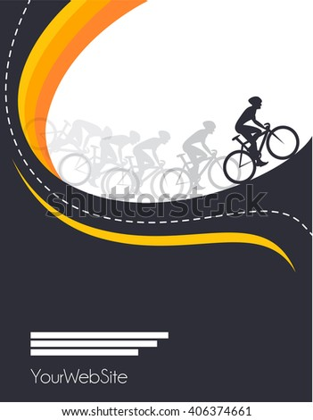 Vector bicycle race event poster design - stock vector