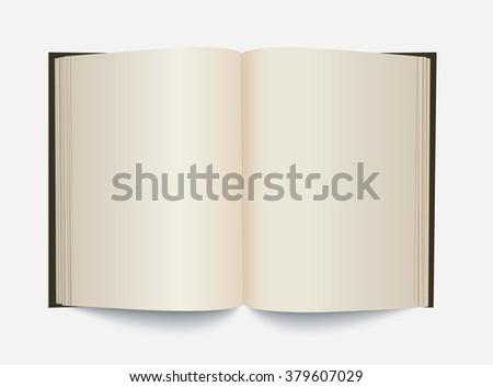 Vector blank white opened book. - stock vector