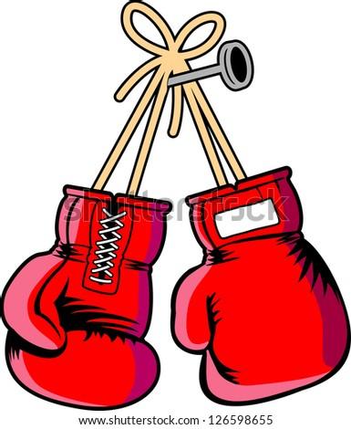 vector boxing gloves - stock vector