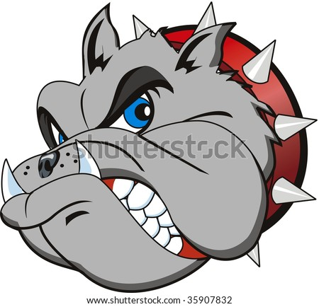 vector Bulldog head ve...
