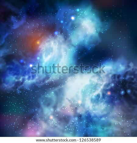 100% Vector Butterfly Galaxy