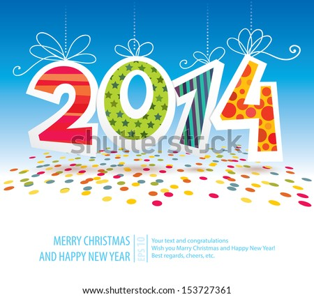 2014 vector card - stock vector