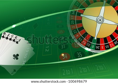 vector casino background, eps10 file, transparency used, raster version available