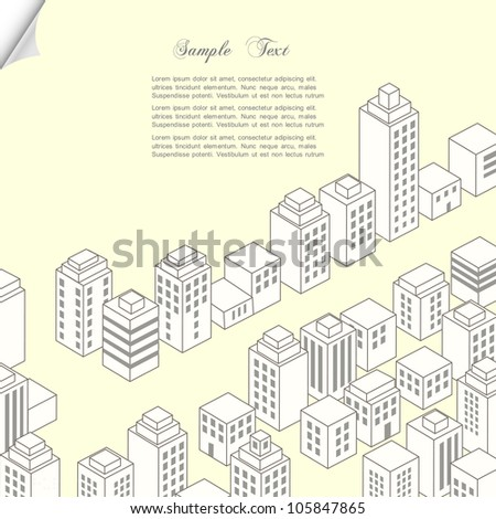 Vector city. Construction concept background - stock vector