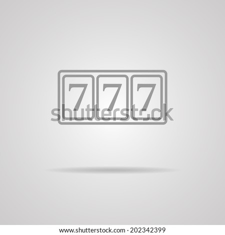 777 vector icon on gray background. EPS10 - stock vector