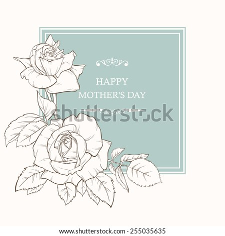 Vector illustration. Card for Mother's Day. Summer background. Wedding invitation card. - stock vector